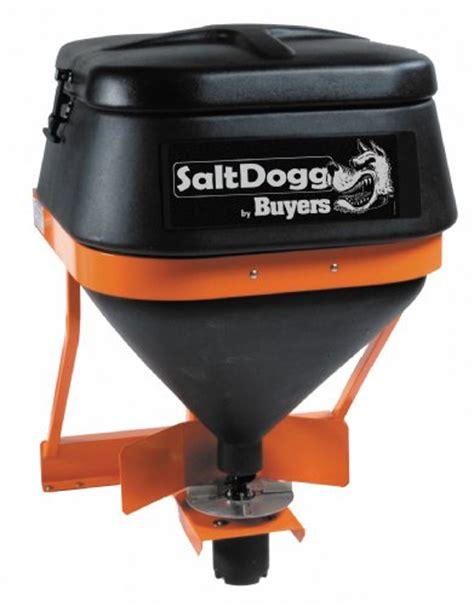 rugged salt buyers saltdogg tgs01b 8 cubic foot 602 pound capacity rugged thermoplastic tailgate mount salt
