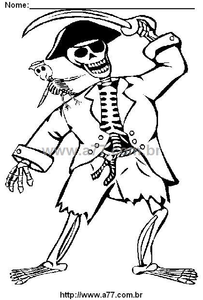 Desenho Para Colorir Tema: Dia das Bruxas, Halloween