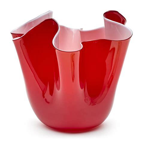 vaso venini fazzoletto 01 venini modello fazzoletto colore rosso longho design