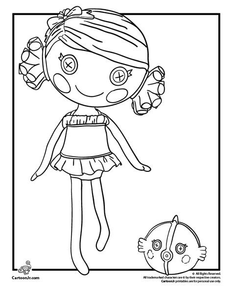 coloring page lalaloopsy dolls coral sea shells lalaloopsy coloring page cartoon jr