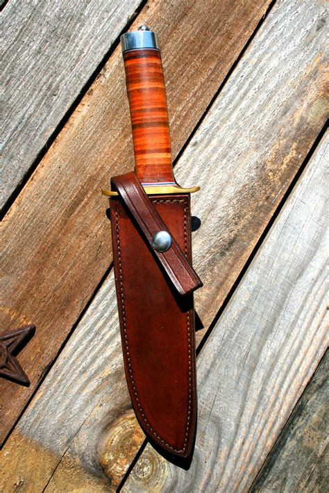 Handmade Leather Knife Sheaths - randall 1 custom leather knife sheath