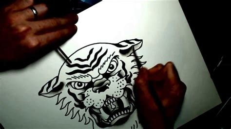 watercolor tattoo flash tiger youtube