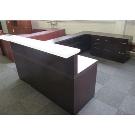 used office reception area gianni kona laminate u shaped