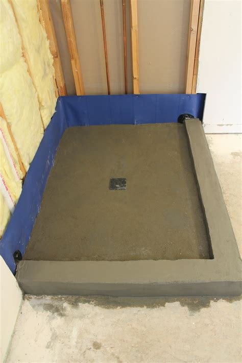 How To Float A Shower Floor by Creating A Threshold Or Curb For Your Shower