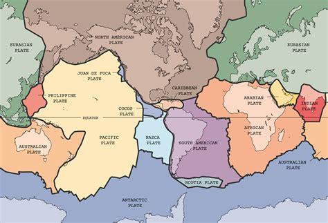 tectonic plate map earthguide sdusd