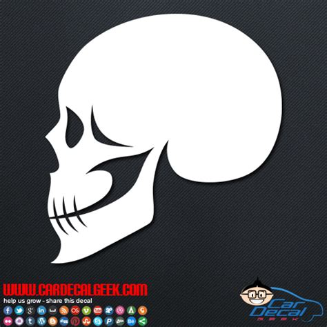 Scary Stickers scary skull vinyl car window decal sticker skull decals