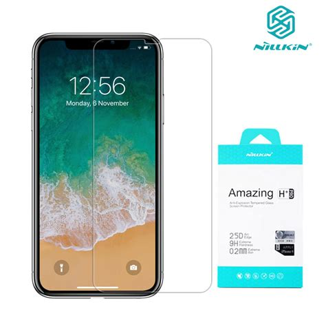 9h hd tempered glass for iphone xr xs max nillkin h pro 0 2mm transparent screen protector for