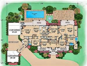 Villa House Plans Villa Mansion Floor Plans Luxury Floor Plans