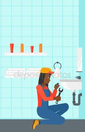 frauen waschbecken waschbecken mit wasserhahn stockvektoren lizenzfreie
