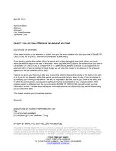 collections letter template collection letter by collection agency template sle
