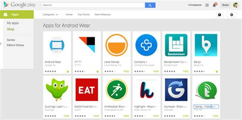 official android app store androidreamer official android wear companion app hits play along with new page listing