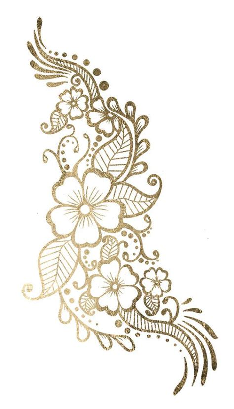 gold henna tattoo designs best 25 henna flower designs ideas on henna