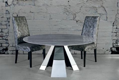 Marble Dining Table Base Buy International Butterfly Marble With Stainless Steel Base Dining Table