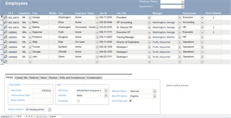 employee database template microsoft access employee recruiting template opengate