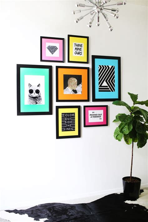 diy picture frame matting colors colored mat gallery wall idea a beautiful mess bloglovin