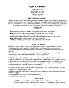 Dental Assistant Resume Sample Professional Dental Assistant Templates To Showcase Your