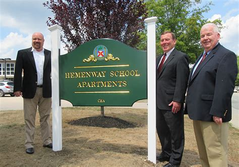 canton housing authority bank of canton funds new signs at senior housing facilities bank of canton