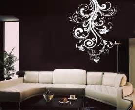 white flower wall stickers white flower vine living room wall sticker decal