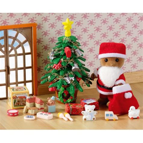 sylvanian families father christmas tree set iwoot