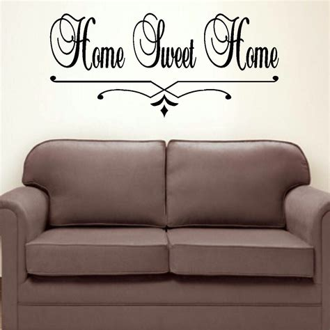 Large Bedroom Wall Decor by Large Bedroom Quote Home Sweet Home Wall Sticker