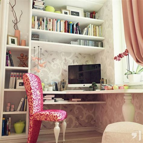 Pink Corner Desk Terrific Teenagers Rooms With Corner Mac Desk And Beautiful Pink Chair Interior Study