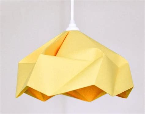 custom origami paper l shade by fiber lab lighting