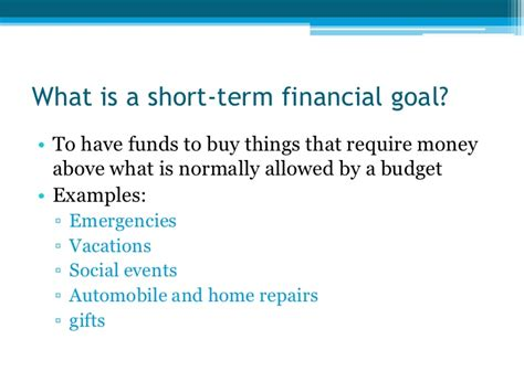 Term And Term Goals For Mba In Finance by 17 Personal Financial Planning