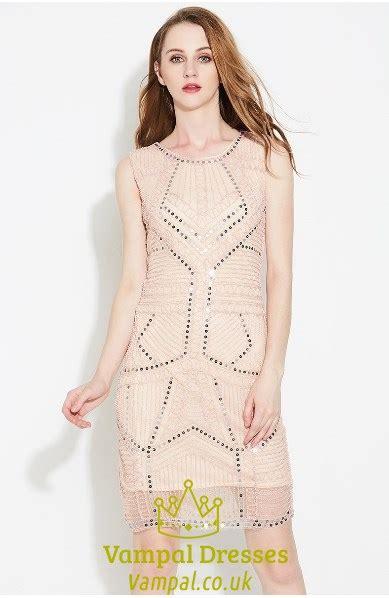 light pink sheath dress light pink elegant sleeveless beaded short sheath cocktail