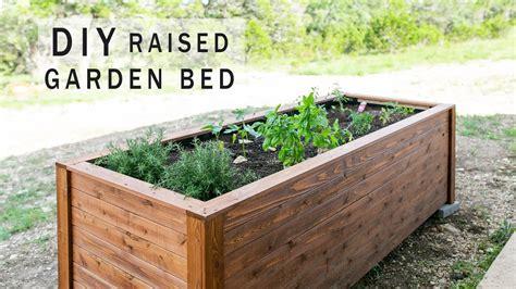 diy raised garden bed  drawers youtube