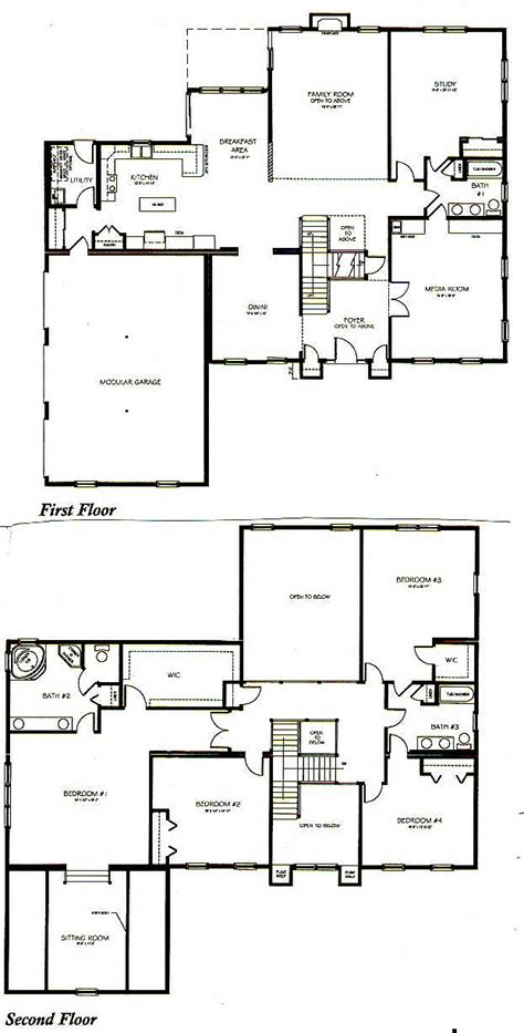 2 storey 3 bedroom house floor plan two story house plans