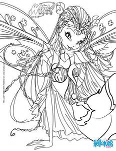 Winx Club Flora Coloring Pages flora transformation bloomix coloring pages hellokids