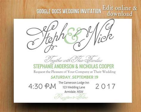 wedding invitations templates for google docs 13 best google docs templates images on pinterest