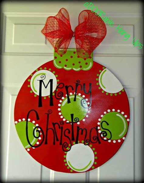 christmas ornament door hanger on etsy 30 00 christmas