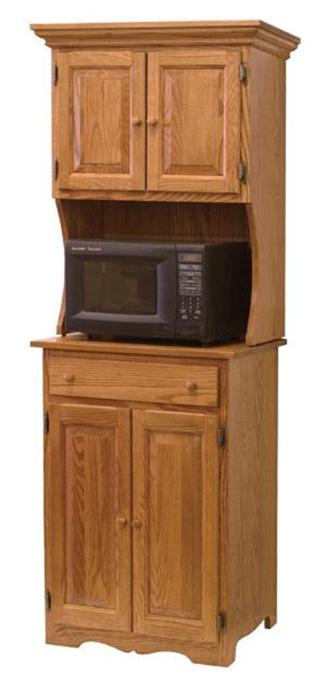 Microwave Stand With Hutch hardwood amish made microwave stands