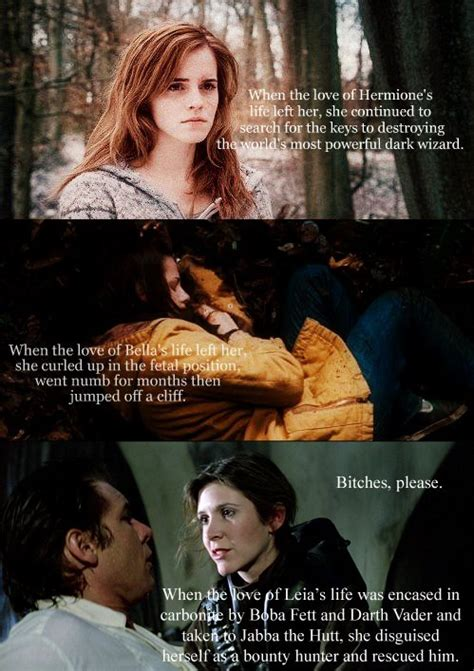 Hermione Memes - hermione vs bella vs leia a whole lot of nothing