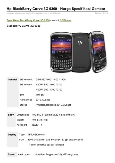 Hp Bb Curve spesifikasi blackberry curve 3g 9300