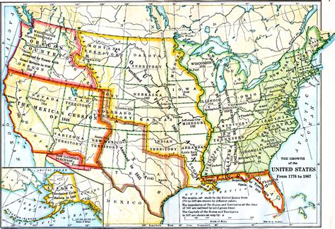 map of usa 1776 the growth of the united states