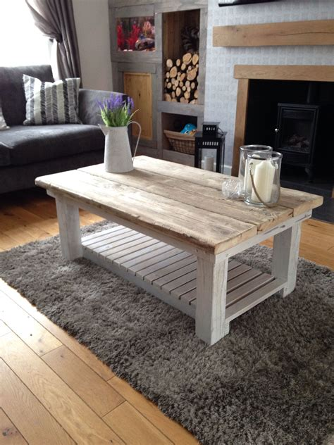 reclaimed scaffold board coffee table addition to