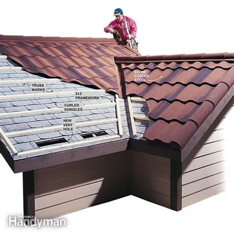 cutting cedar shingles to roof angle metal roofing installation the family handyman