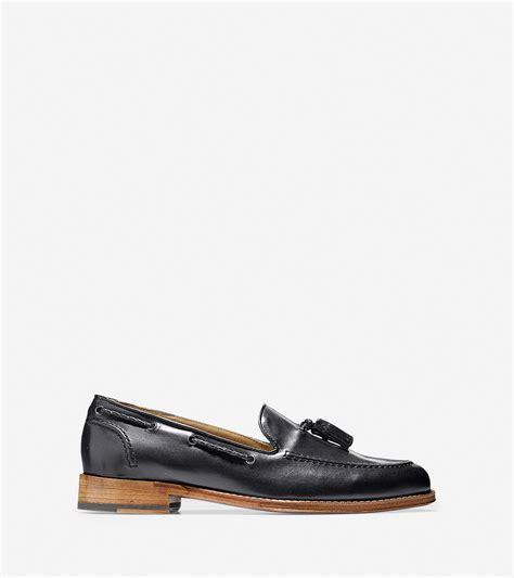 belgian loafer cole haan brady belgian tassel loafer in black for lyst