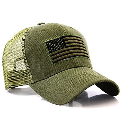Topi Tactical Multicam Trucker us american flag patch tactical style mesh trucker baseball cap hat sales up
