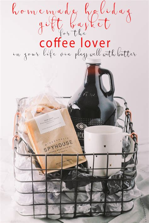 gift for secret lover coffee gift basket for the holidays via playswellwithbutter