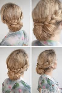put your hair in a bun with braids 30 buns in 30 days day 12 braid over bun hairstyle