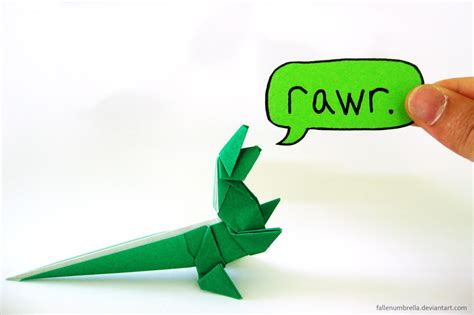 How To Make An Origami T Rex - origami t rex by fallenumbrella on deviantart