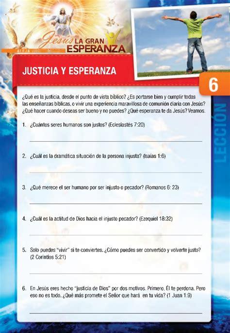 jesus la gran esperanza 18 estudios biblicos 6 18 justicia y esperanza curso b 205 blico jes 218 s la gran