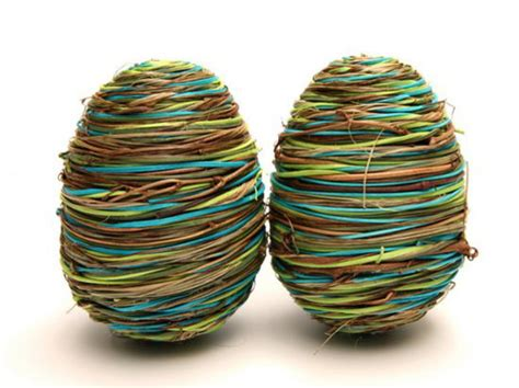 easter eggs in retro style recycled crafts easter eggs