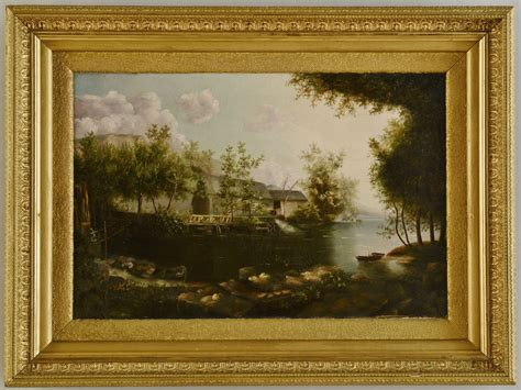 Canvas Knox | lot 604 19th c oil on canvas knox county scene