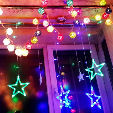 window string lights aliexpress buy five pointed multi color led