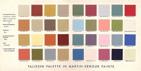 modern colour schemes frank lloyd wright taliesin palette secret design studio