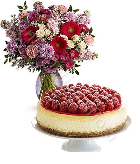 bouchet di fiori torta cheesecake con bouquet di fiori